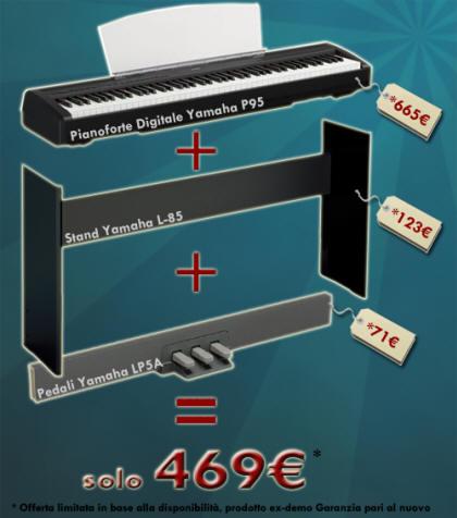 offerta limitata yamaha p95 ex demo full. Black Bedroom Furniture Sets. Home Design Ideas