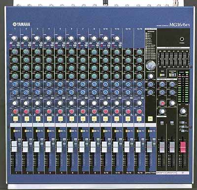 Mixer mg16 6fx con multieffettodigitale incorporato yamaha for Yamaha 16 channel mixer mg16 4