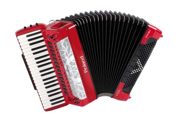 Roland FR8X RD Fisarmonica V-Accordion a piano rosa
